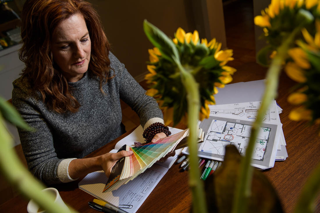 NYC Branded Lifestyle Portraits Feng Shui expert Kate MacKinnon strategizing for clients