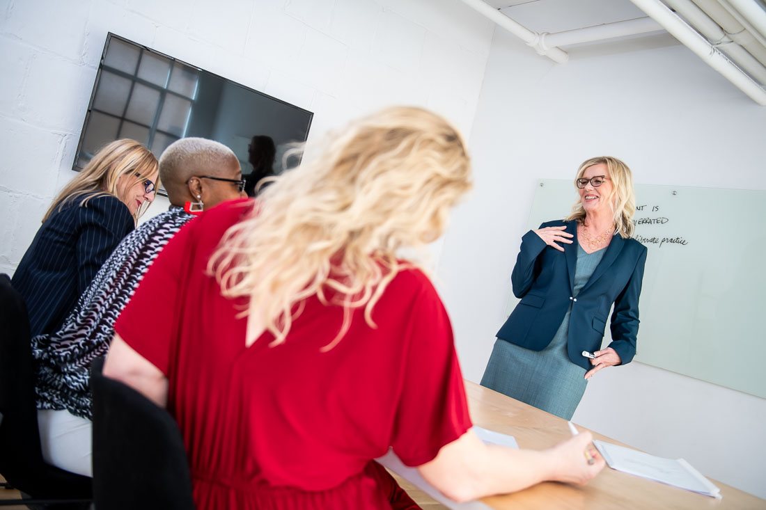 NYC Branded Lifestyle Portraits productivity coach Kathleen Day conducting workshop