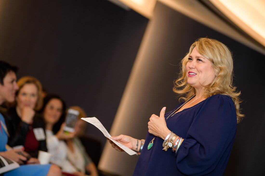 NYC Branded Lifestyle Portraits speaker Neen James giving a talk