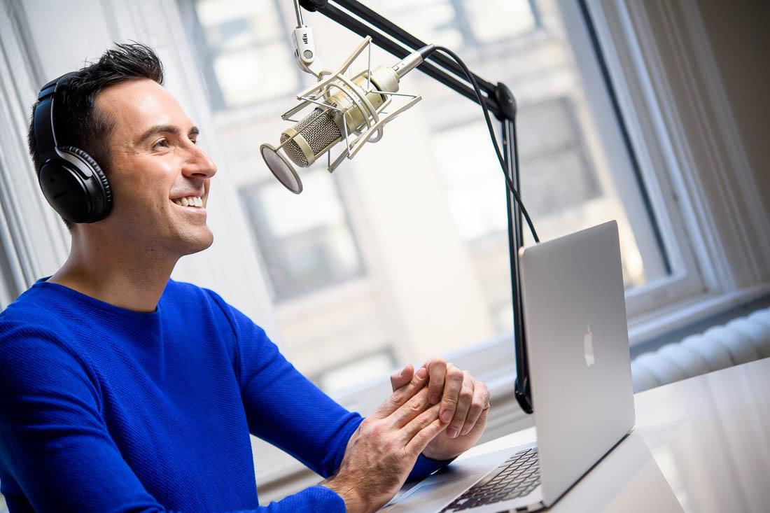 NYC Branded Lifestyle Portraits marketing professional Milan Kowalewski podcasting