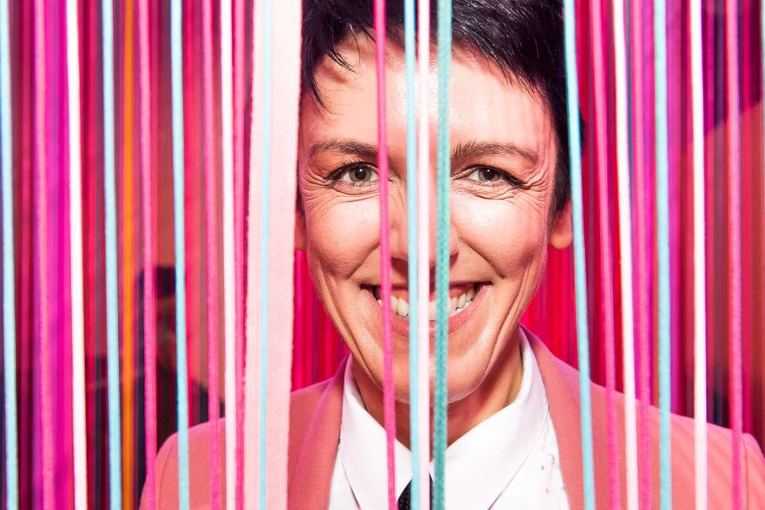 NYC Branded lifestyle portraits speaker author Sylvie digiusto smiling to camera