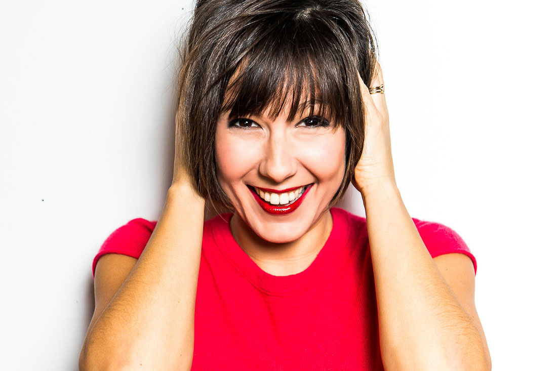 NYC Branded Lifestyle Portrait Speaker Branding Business Design Expert Pia Silva Smiling