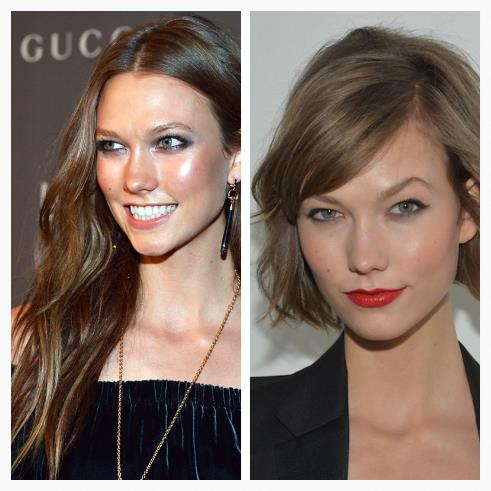 Karlie Kloss went for a bob- we love how modern & fresh it looks.