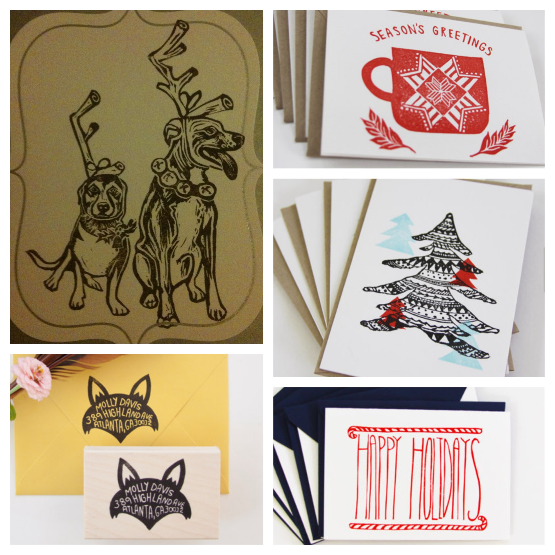 Custom stamps & handmade cards are holiday-perfect!
