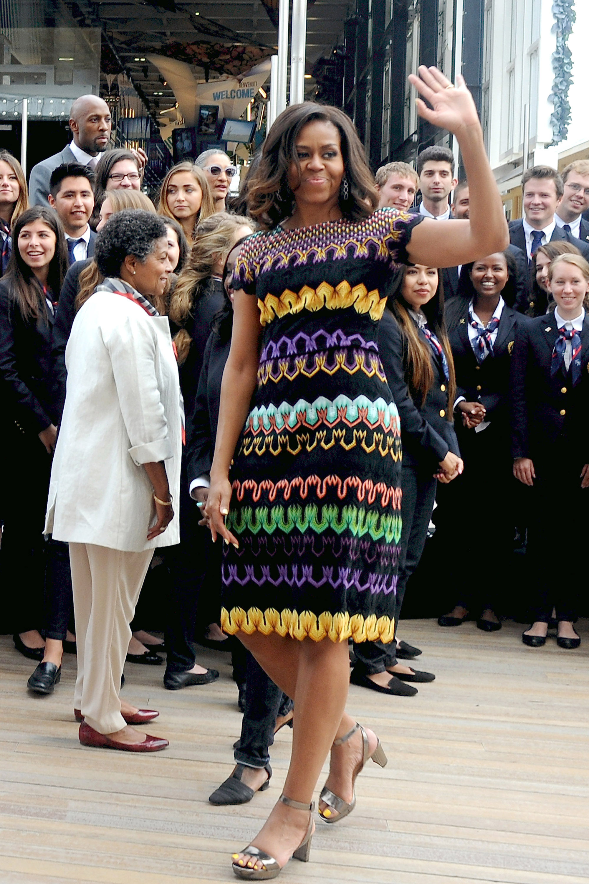 Just Michelle stomping on the patricarchy in these killer heels.