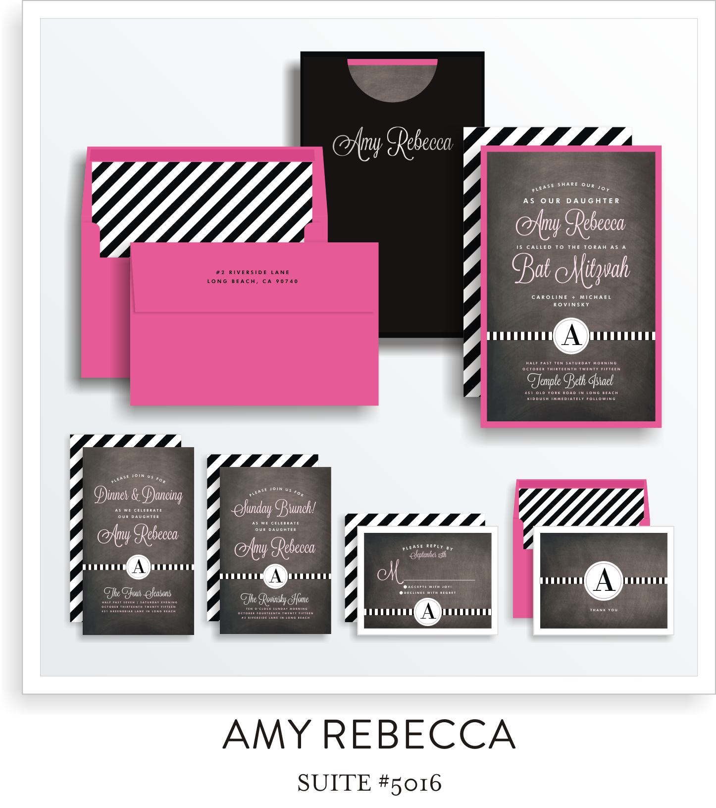 bat mitzvah invitations 5016
