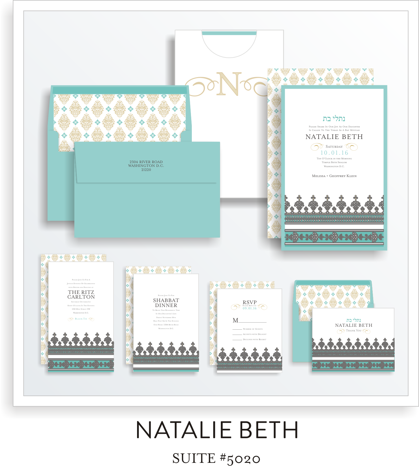 bat mitzvah invitations 5020