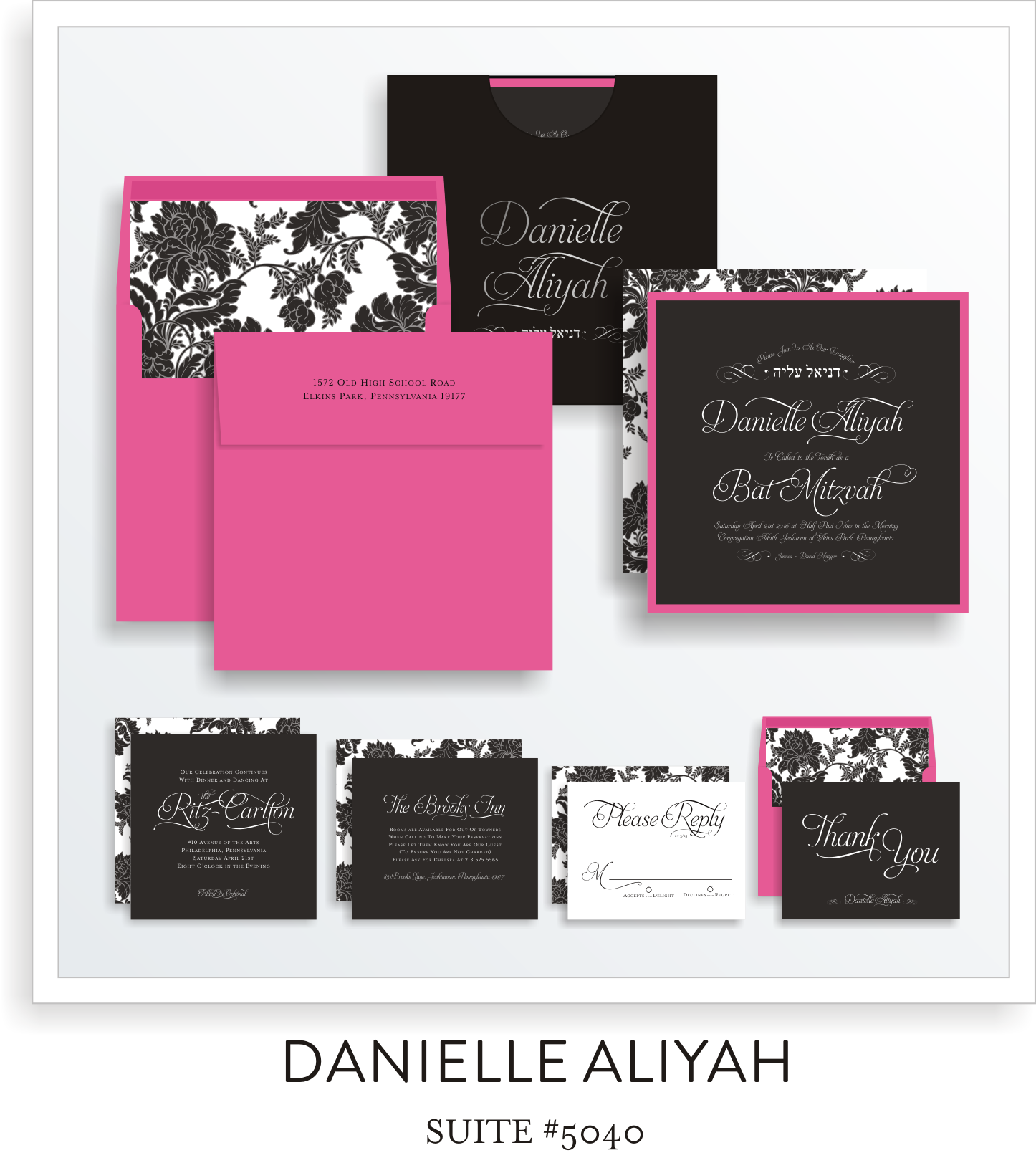 bat mitzvah invitations 5040