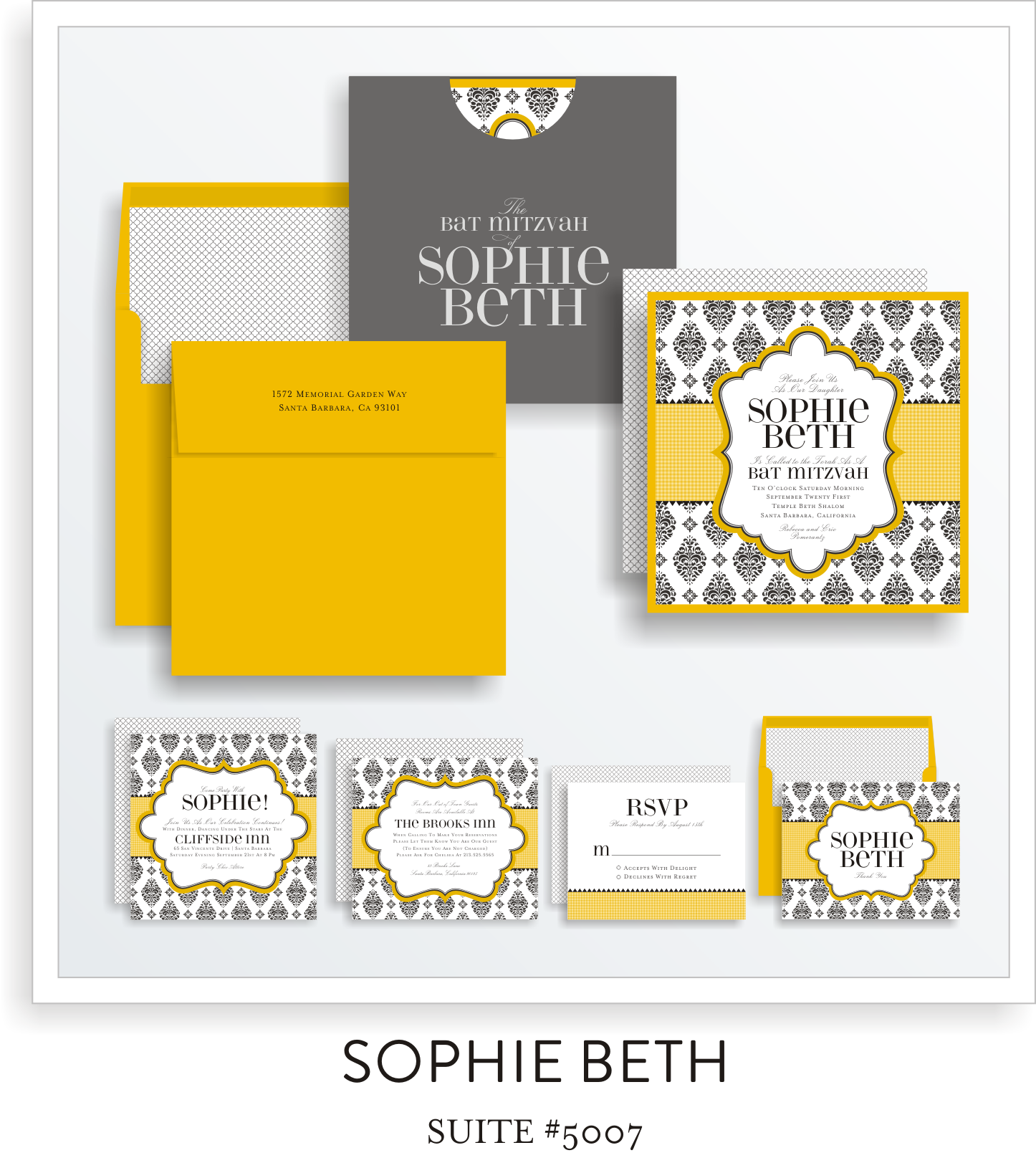 bat mitzvah invitations 5007