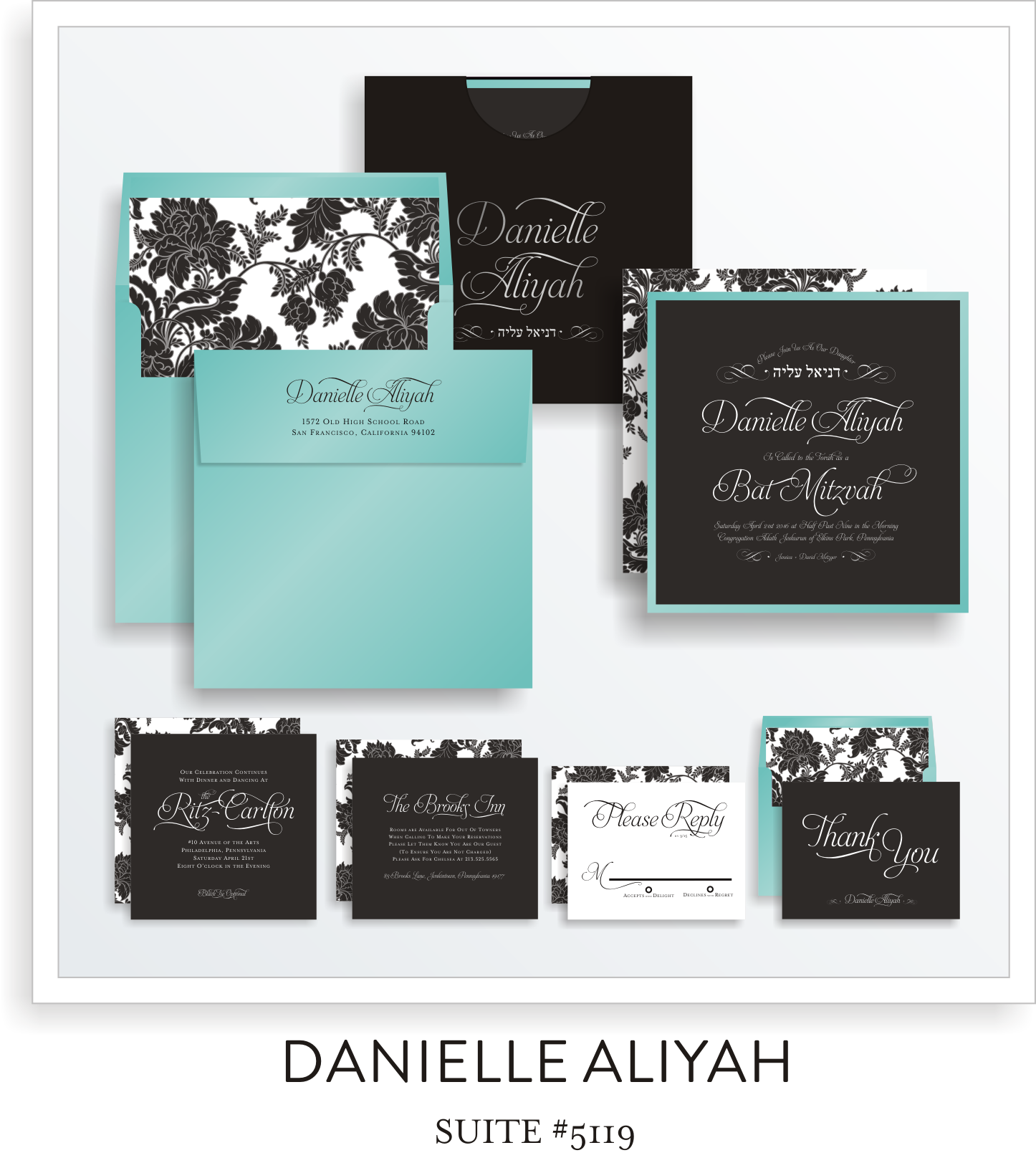 bat mitzvah invitations 5119