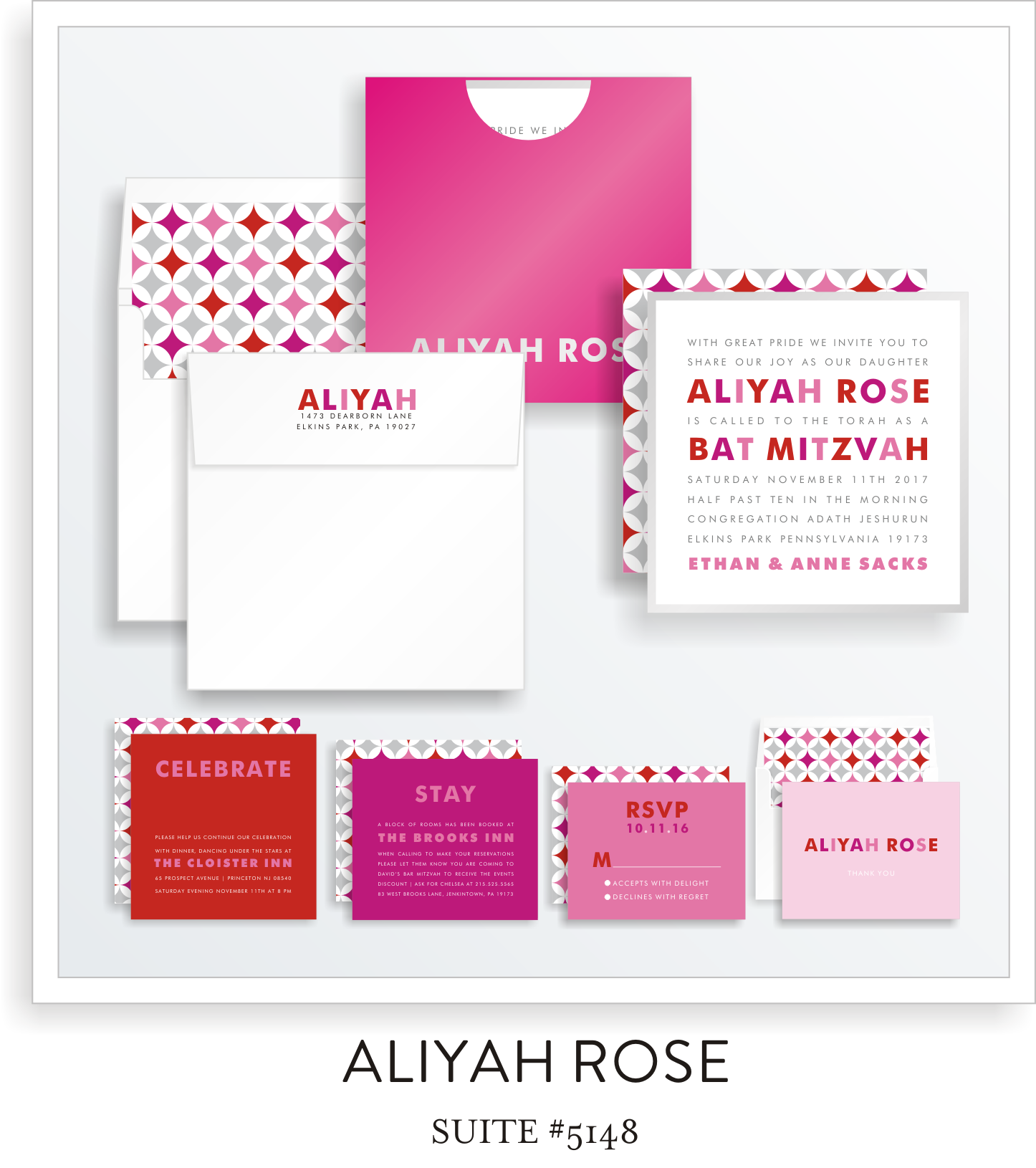 bat mitzvah invitations 5148