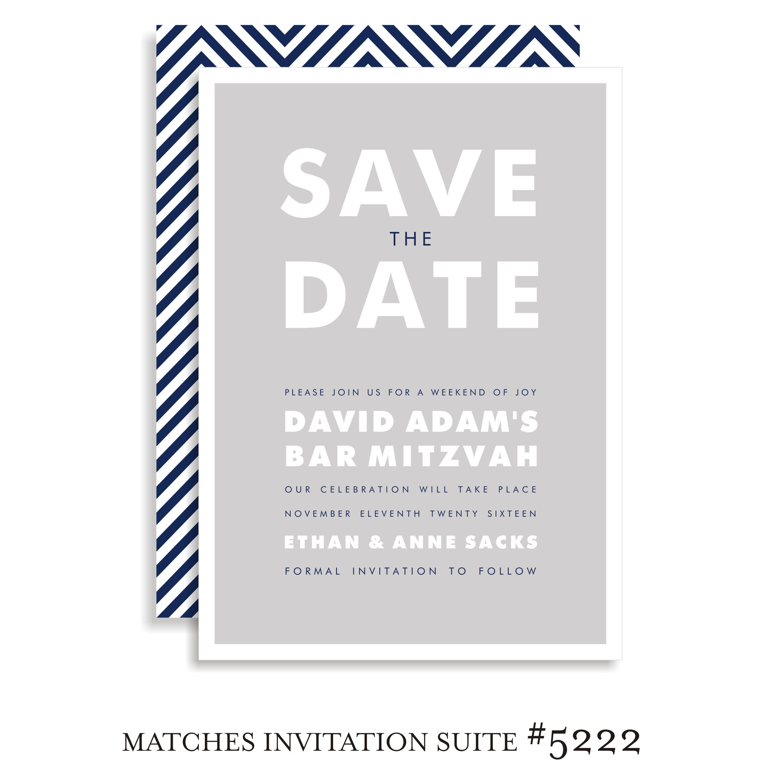 Save the Date Bar Mitzvah Suite 5222 - David Adam
