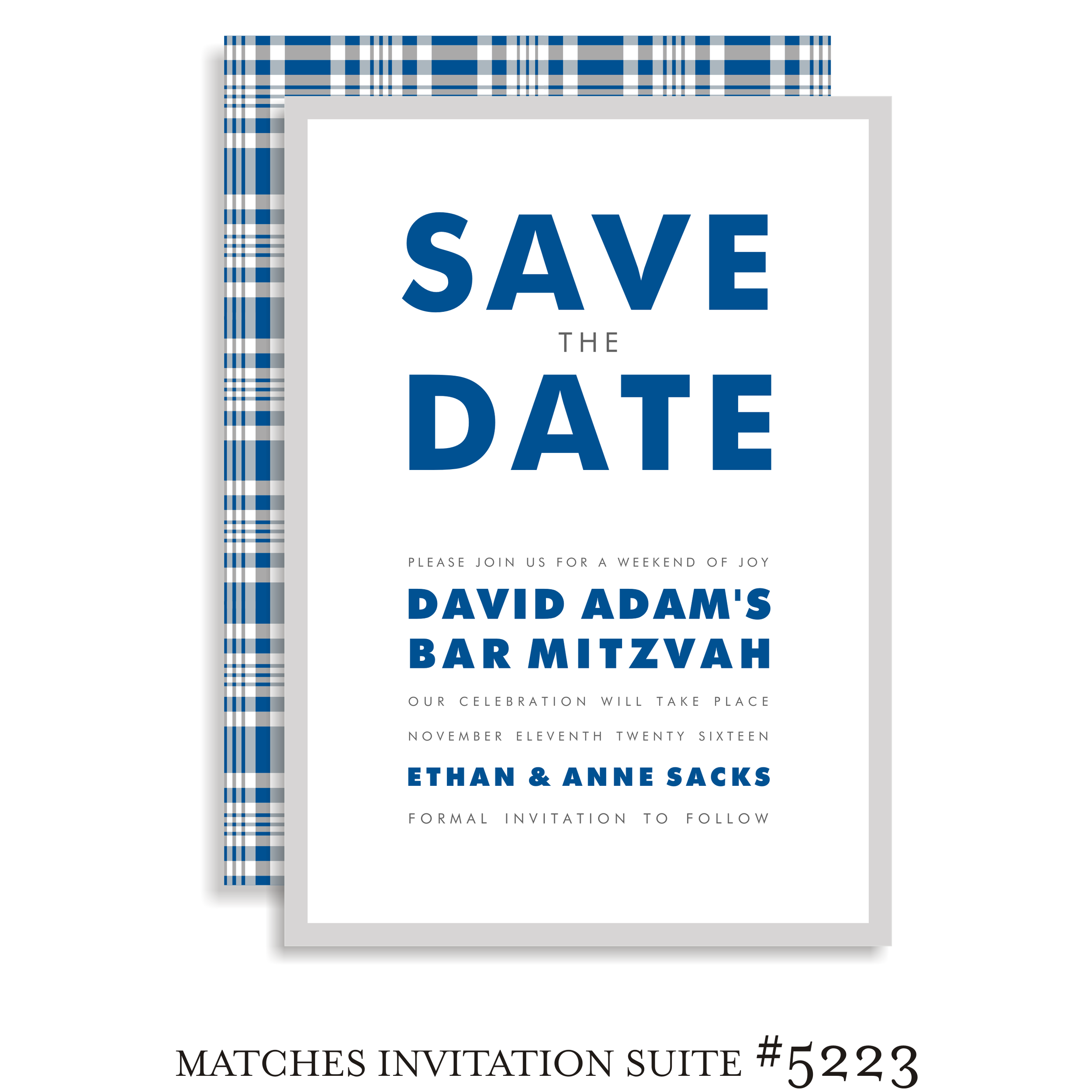 Save the Date Bar Mitzvah Suite 5223 - David Adam