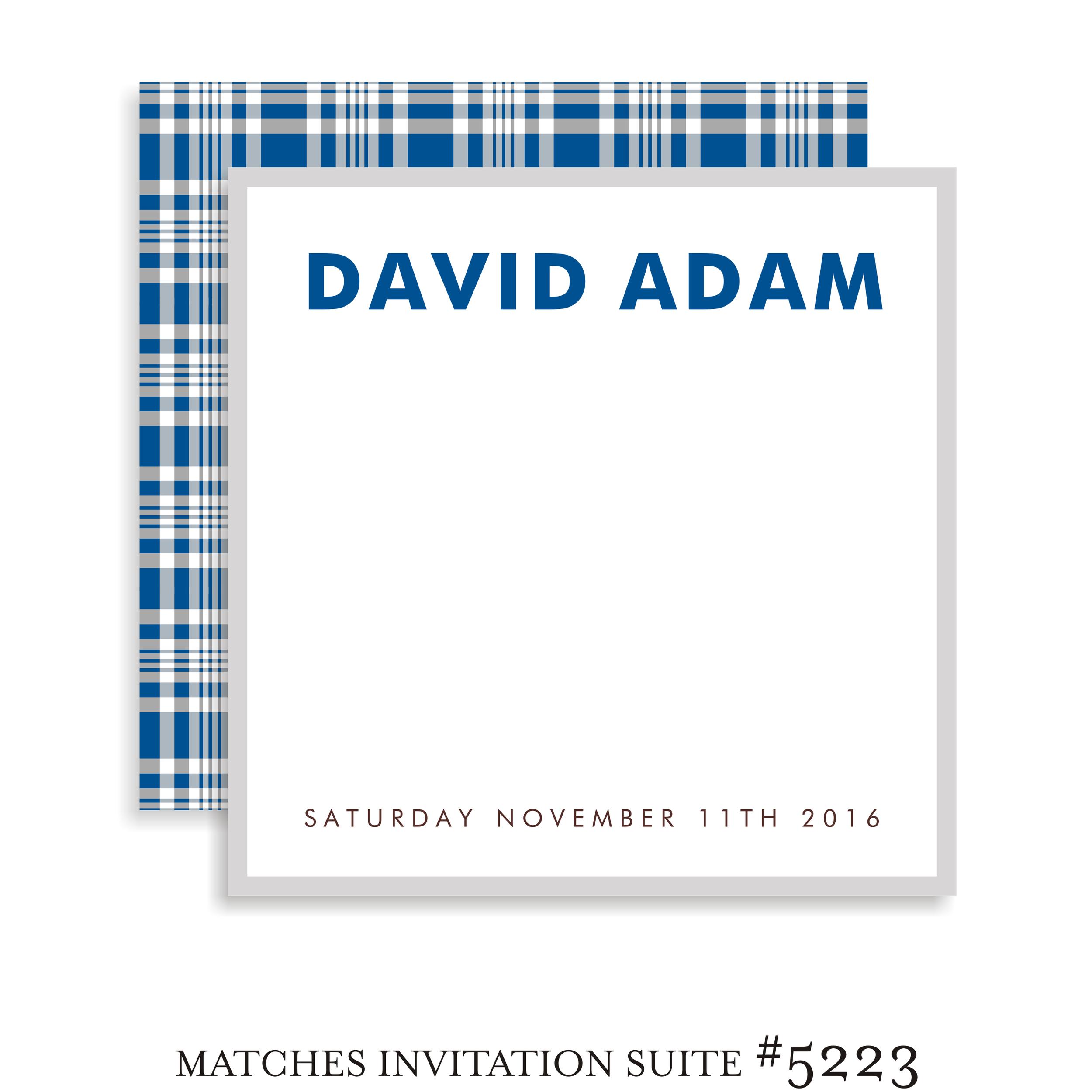 Sign In Board Bar Mitzvah Suite 5223 - David Adam