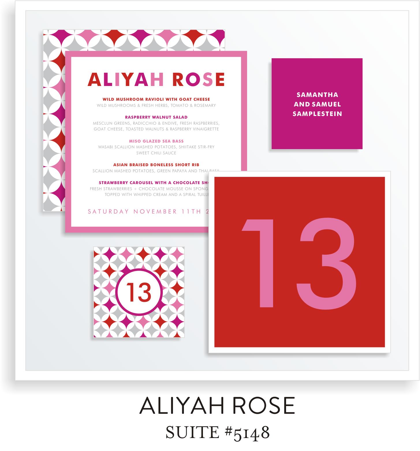 Table Top Decor Bat Mitzvah Suite 5148 - Aliyah Rose