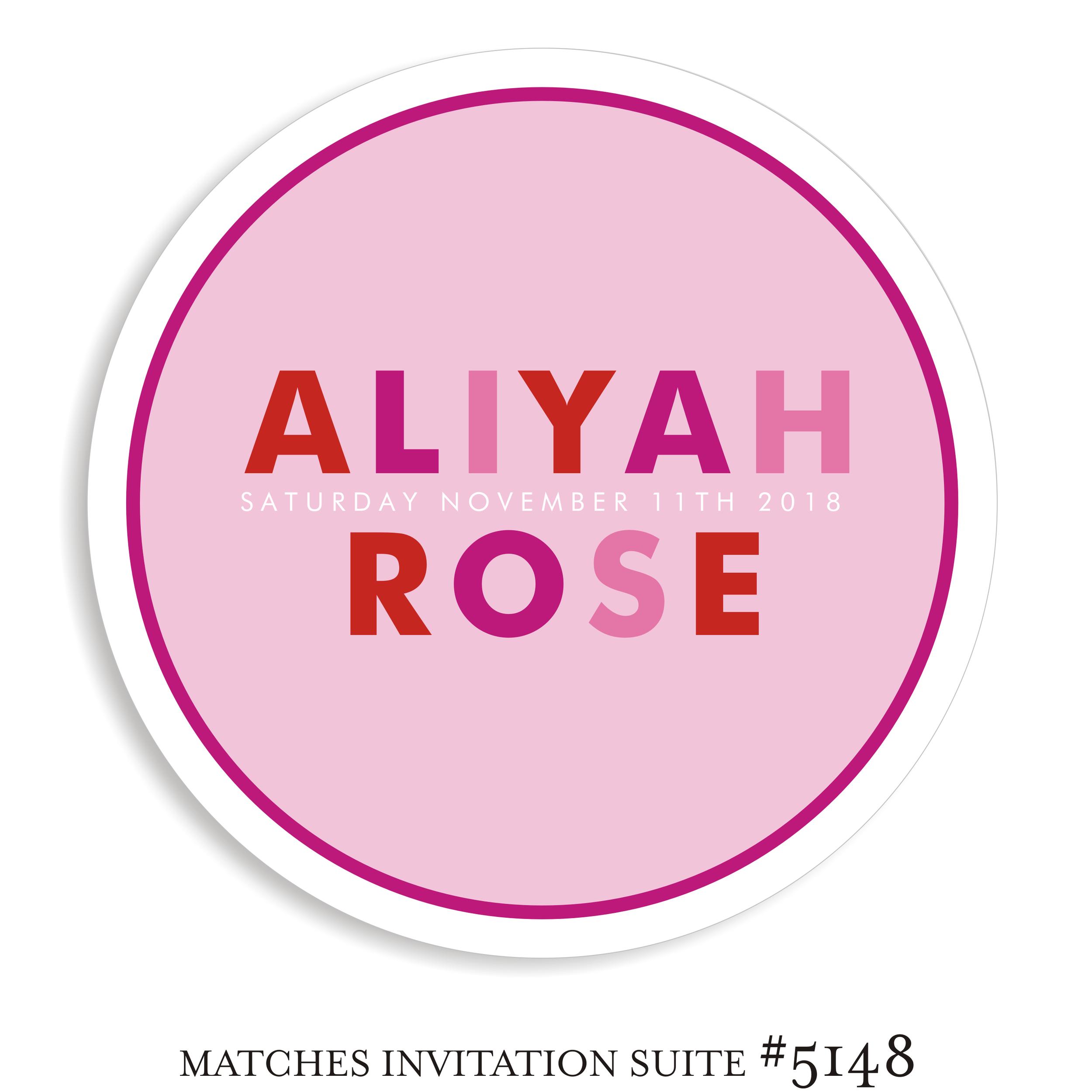 Dancefloor Decal Bat Mitzvah Suite 5148 - Aliyah Rose