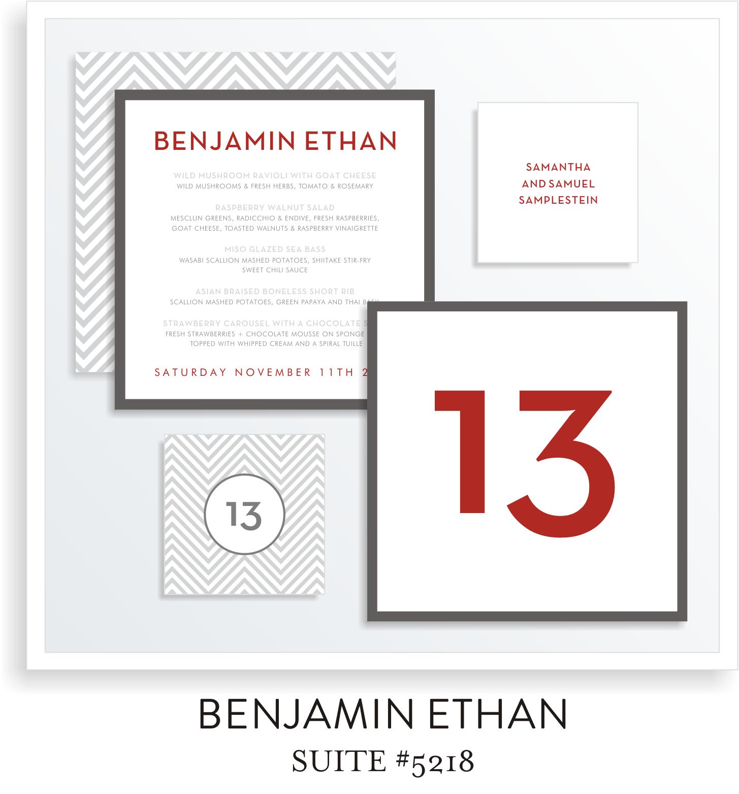 Table Top Decor Bar Mitzvah Suite 5218 - Benjamin Ethan