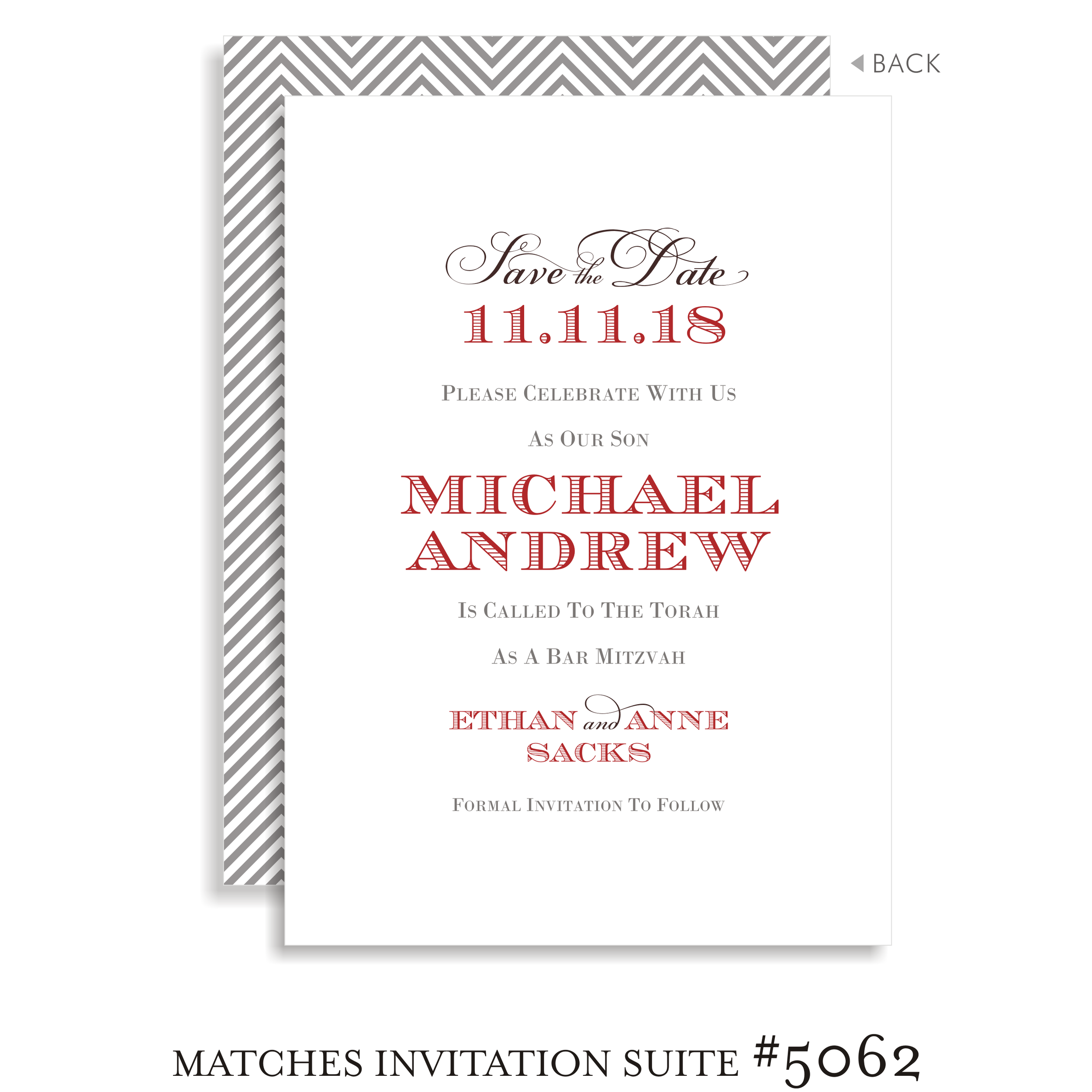 Save the Date Bar Mitzvah Suite 5062 - Michael Andrew