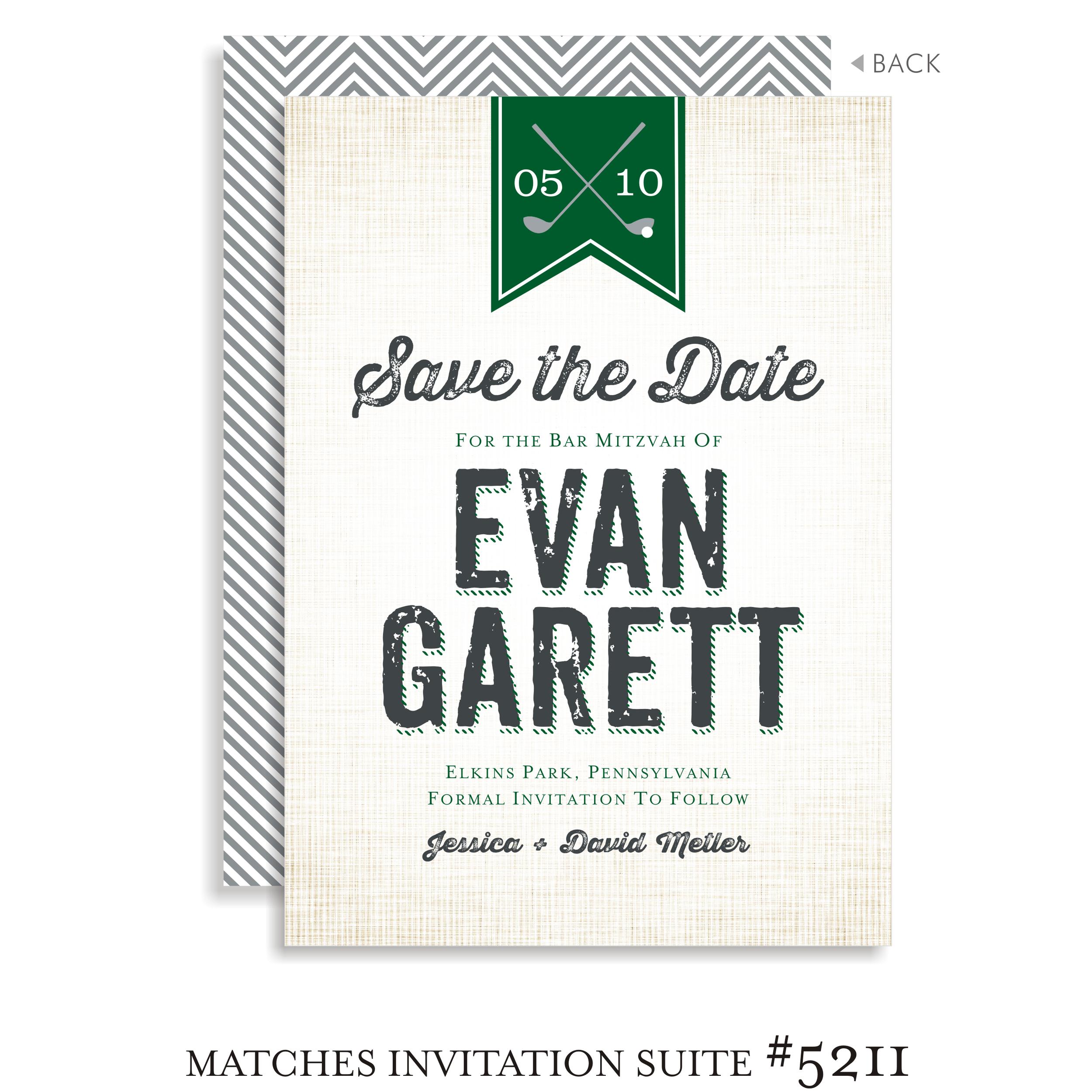 Save the Date Bar Mitzvah Suite 5211 - Evan Garett