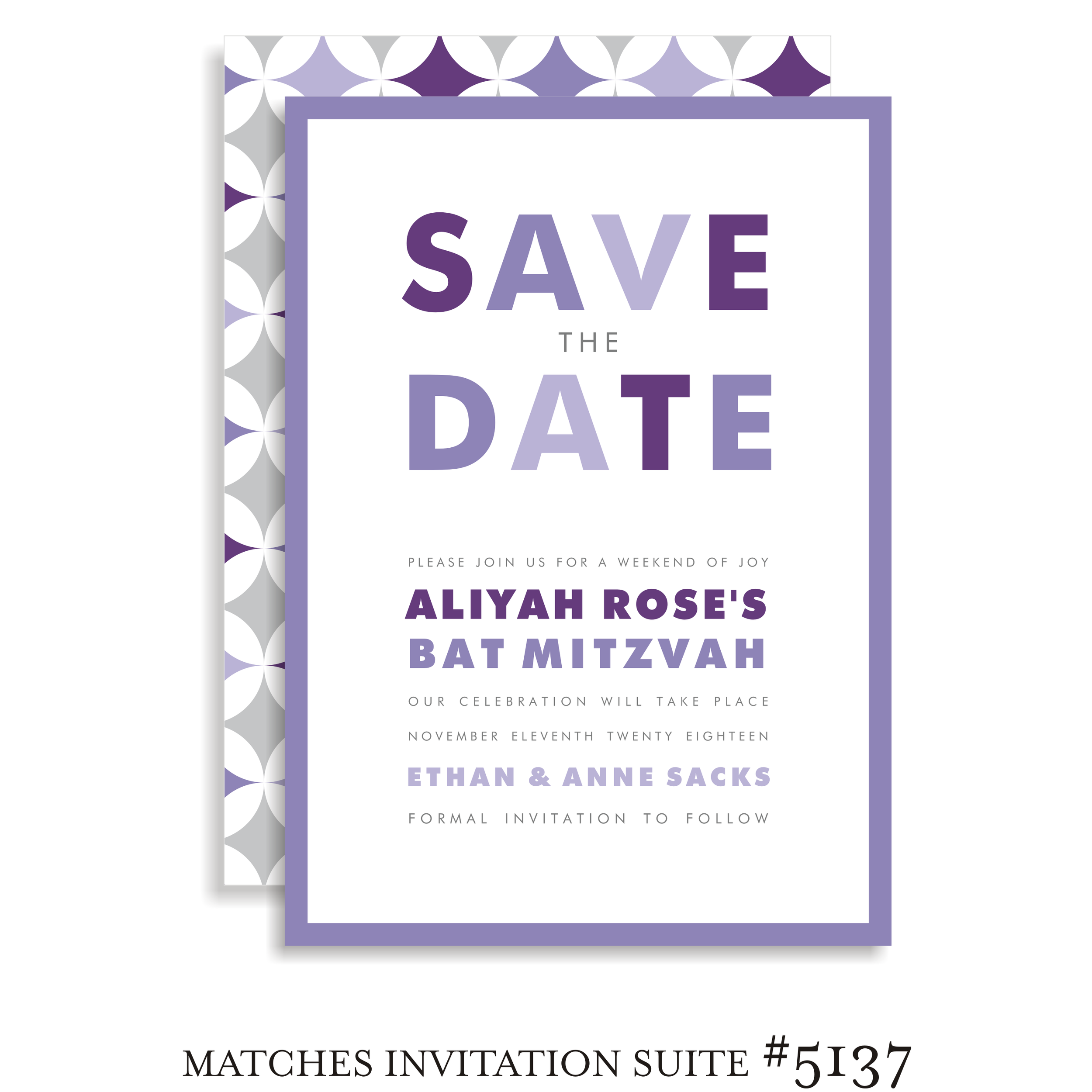 Save the Date Suite 5137 - Aliyah Rose