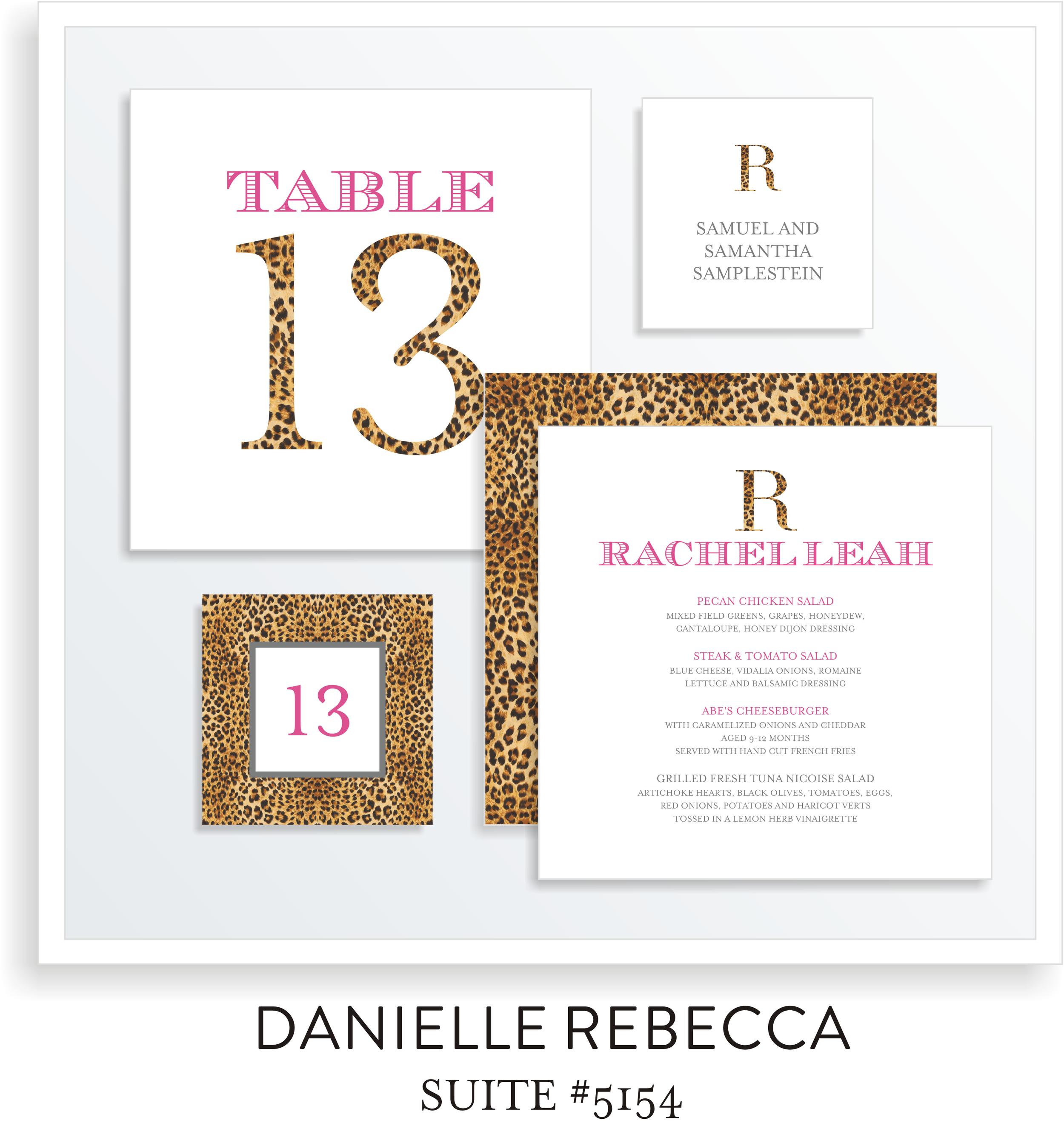 Table Top Decor Bat Mitzvah Suite 5154 - Rachel Leah