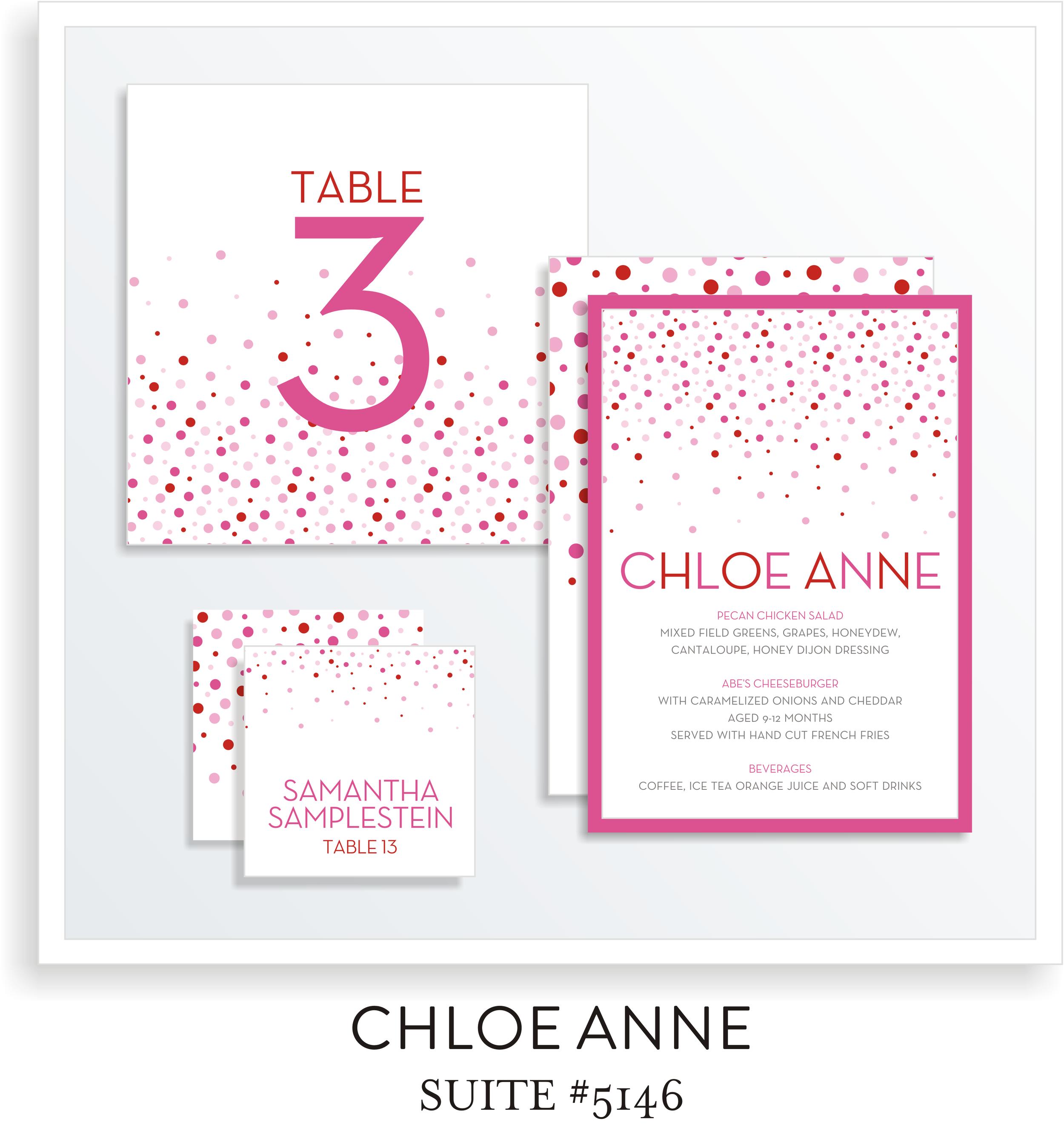 Table Top Decor Bat Mitzvah Suite 5146 - Chloe Anne