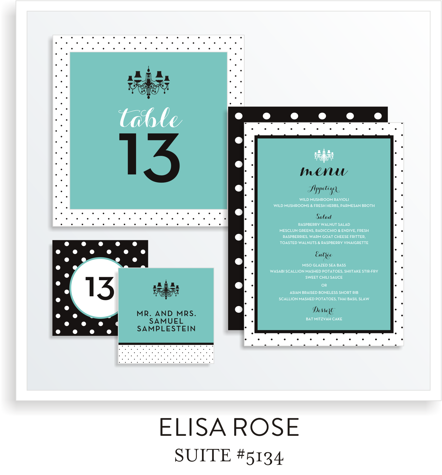Table Top Decor Bat Mitzvah Suite 5134 - Elisa Rose