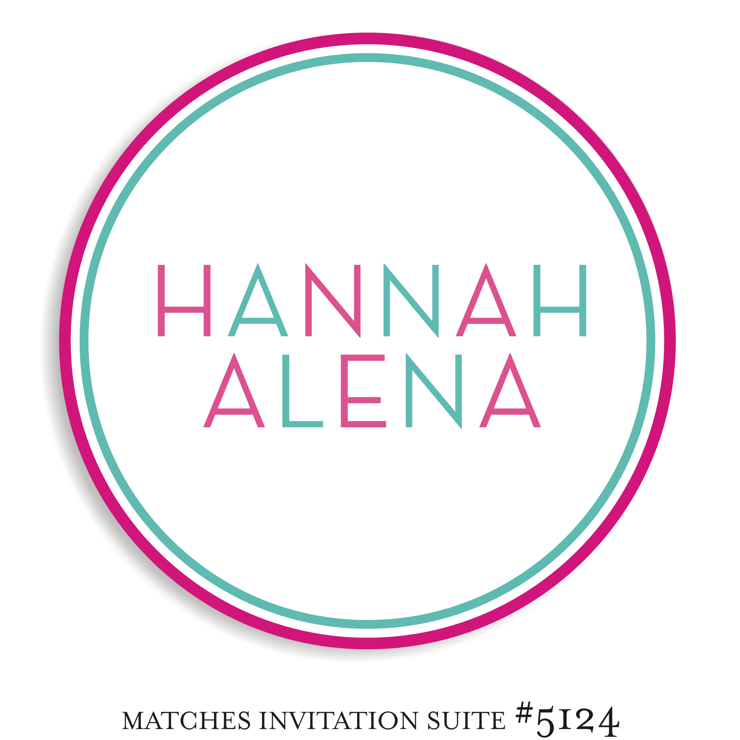 Dancefloor Decal Bat Mitzvah Suite 5124 - Hannah Alena