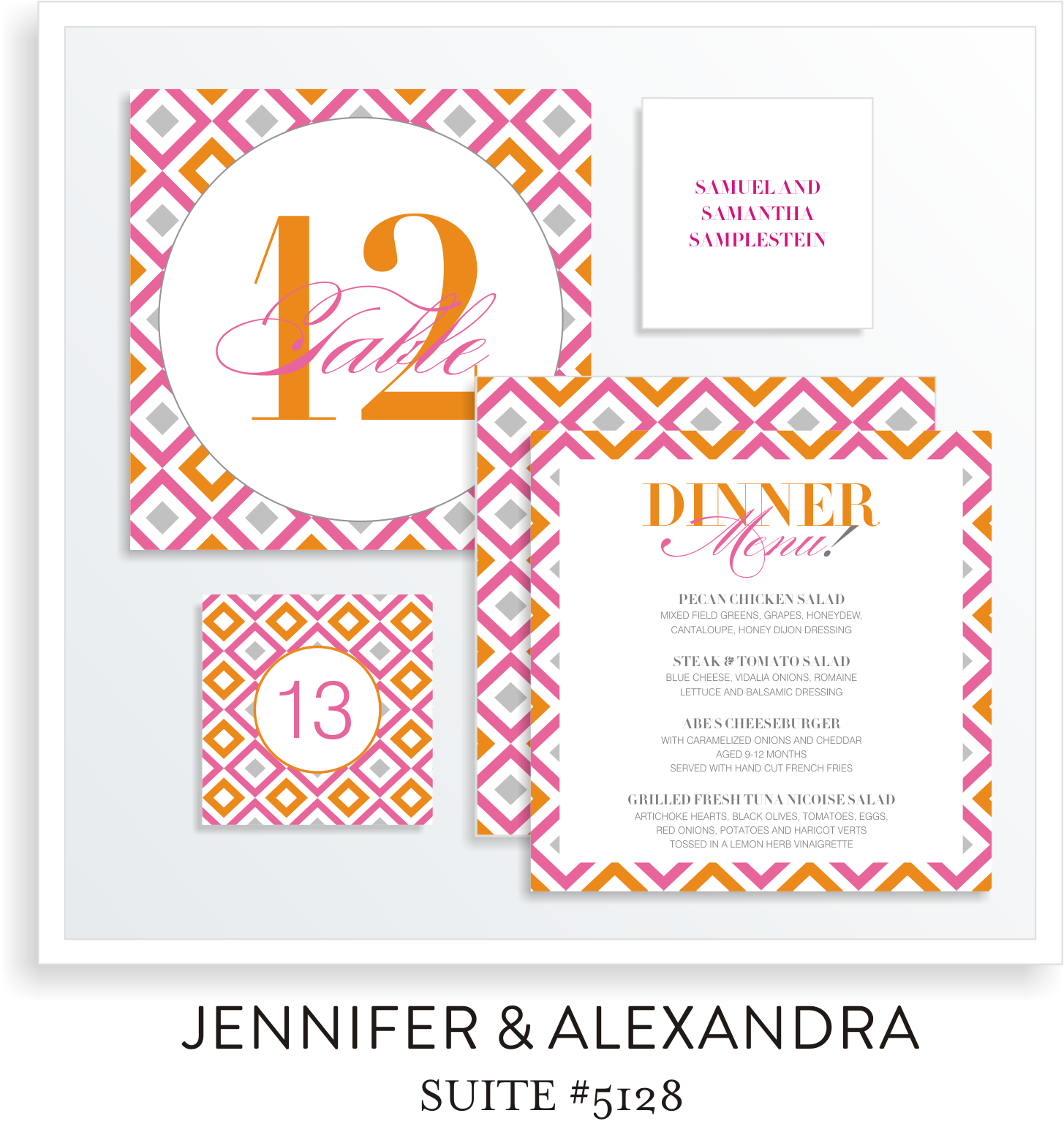 Table Top Decor B'not Mitzvah Suite 5128 - Jennifer & Alexandra