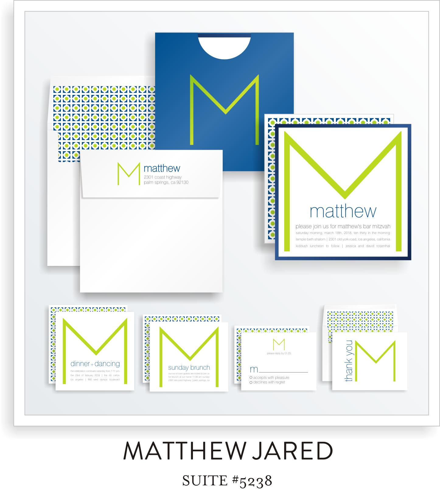 Copy of Copy of Bar Mitzvah Invitation Suite 5238 - Matthew Jared