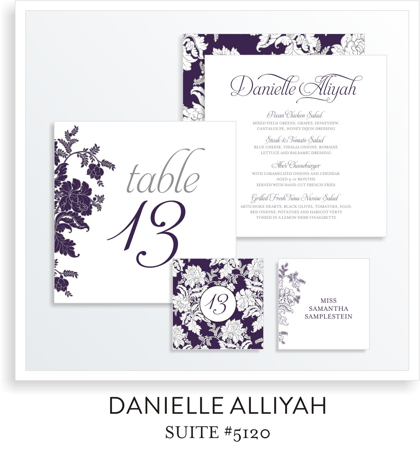Table Top Decor Bat Mitzvah Suite 5120 - Danielle Alliyah