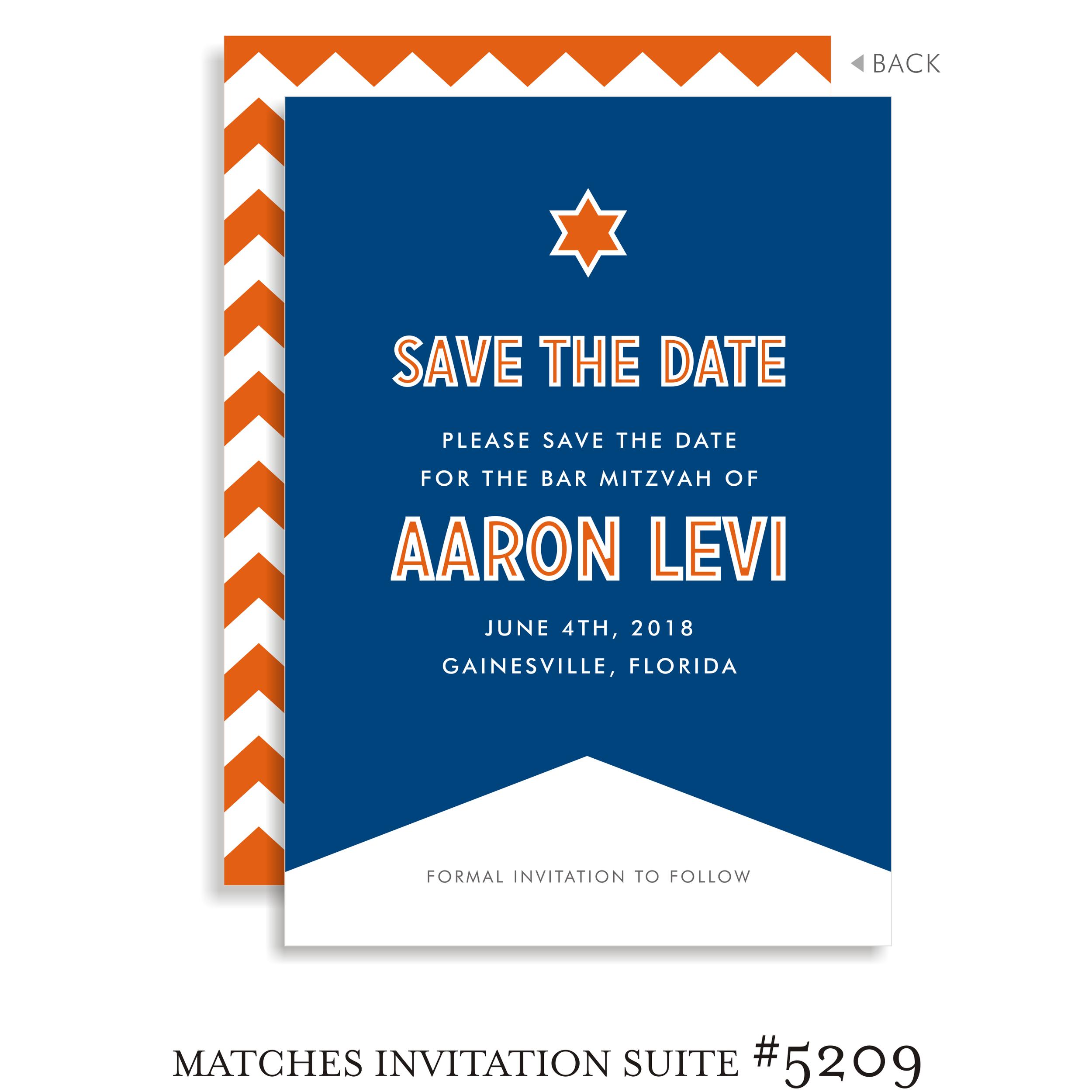 Save the Date Bar Mitzvah Suite 5209 - Aaron Levi