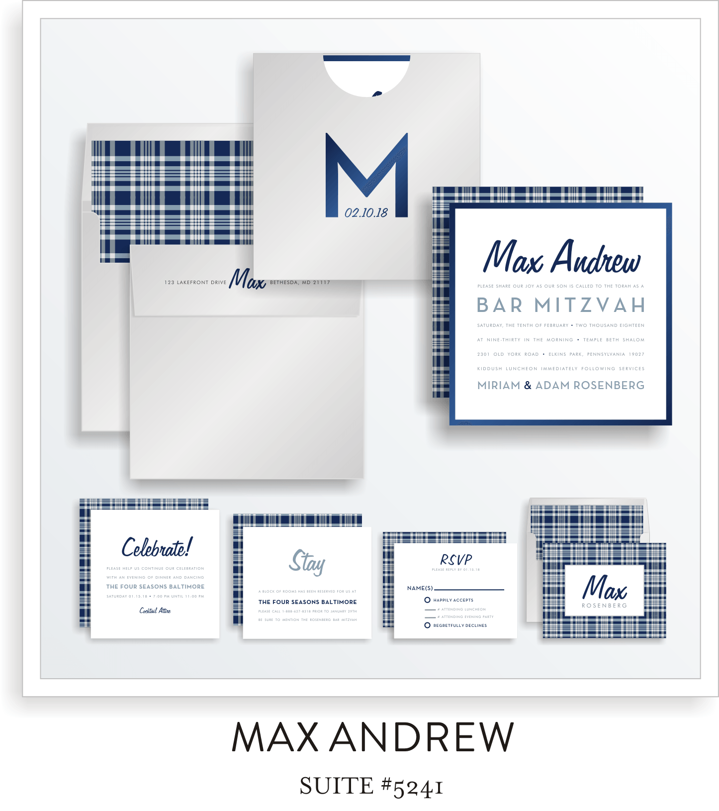 Copy of Bar Mitzvah Invitation Suite 5241 - Max Andrew