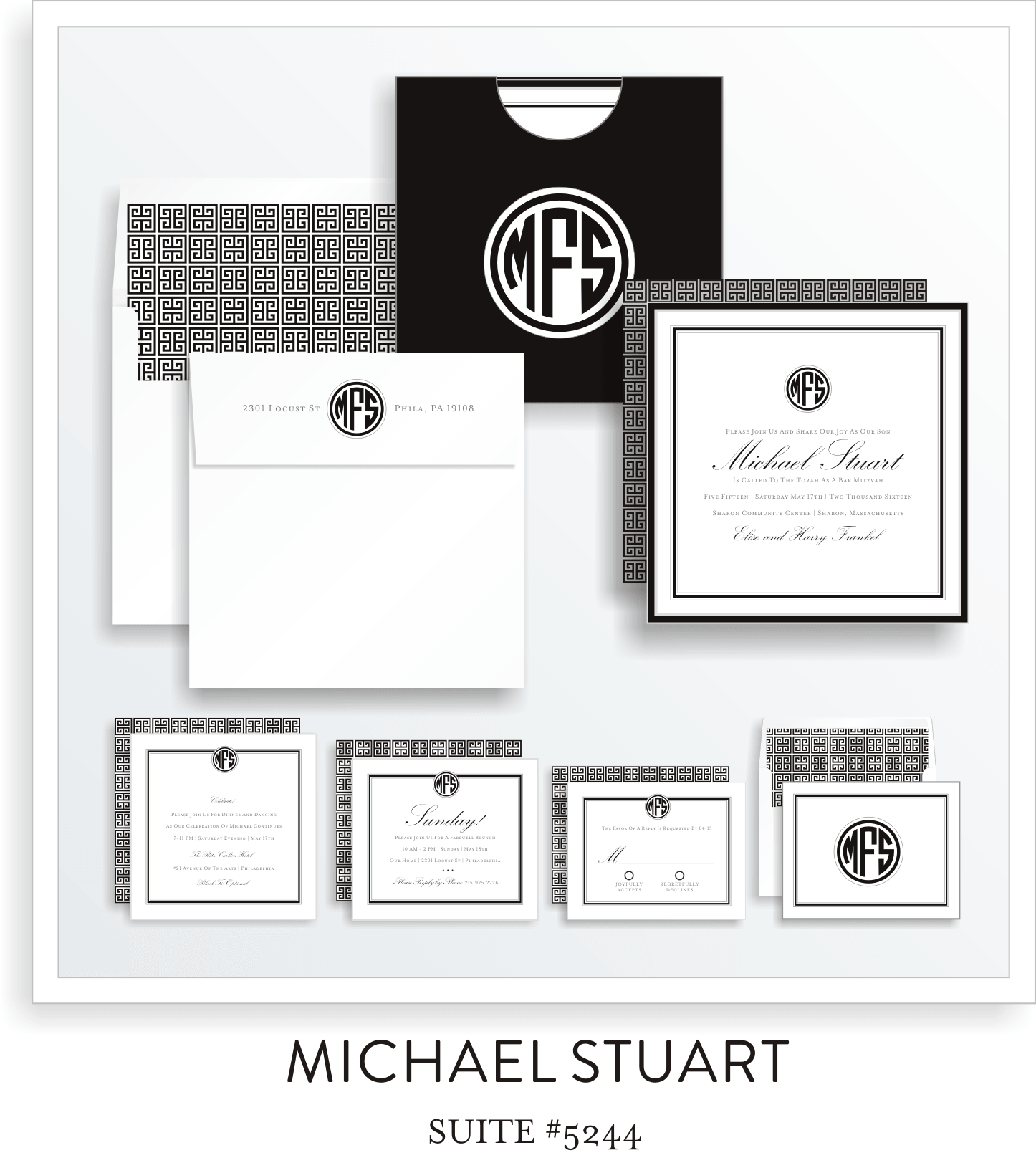 Copy of Copy of Bar Mitzvah Invitation Suite 5244 - Michael Stuart