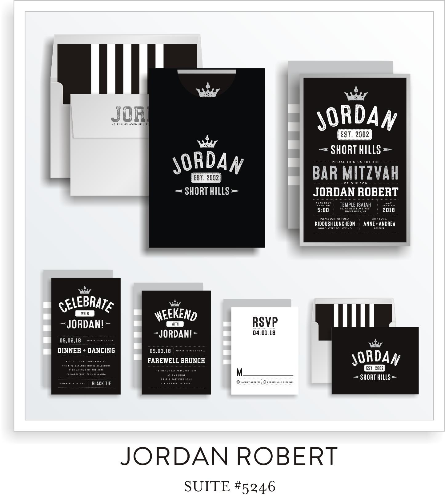 Copy of Copy of Bar Mitzvah Invitation Suite 5246 - Jordan Robert