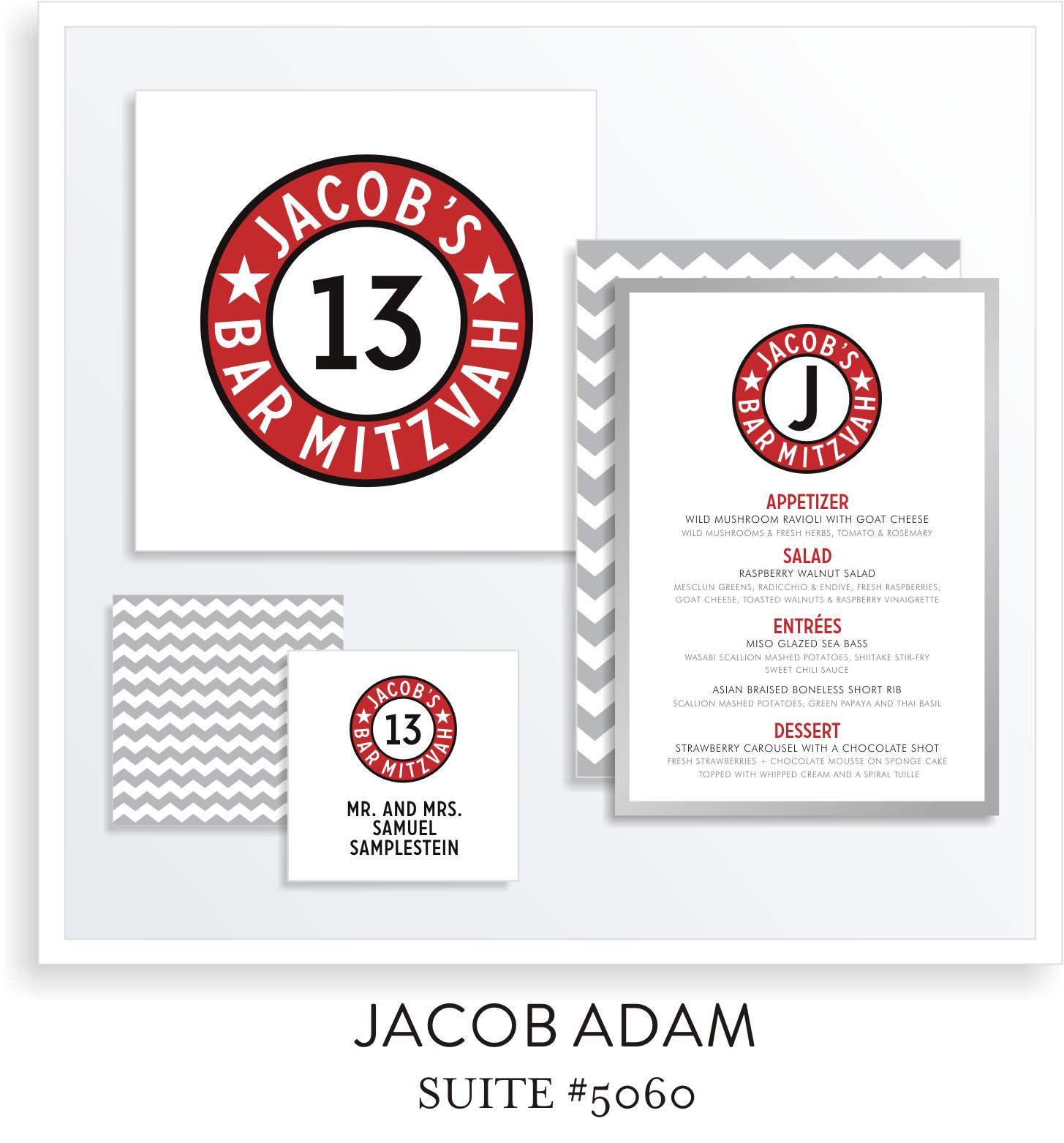 Table Top Decor Bar Mitzvah Suite 5060 - Jacob Adam