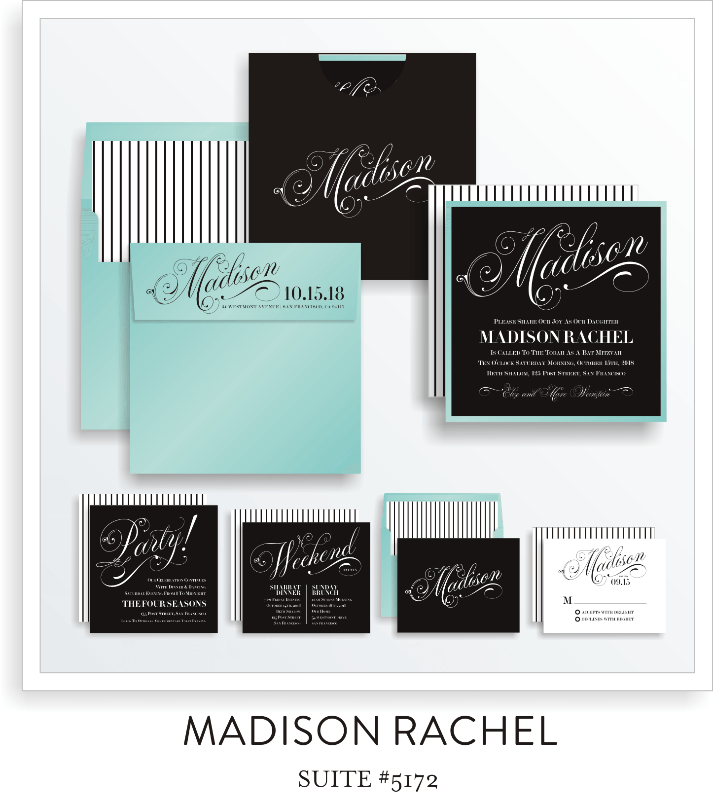 Copy of Bat Mitzvah Invitation Suite 5172 - Madison Rachel