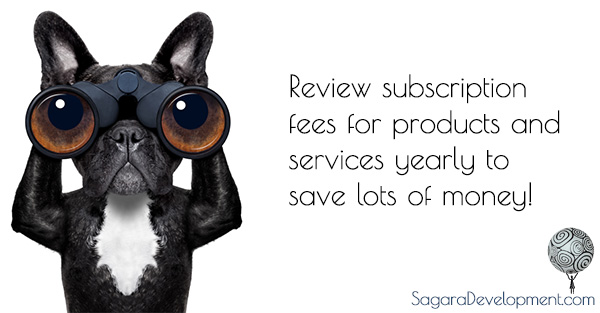 Review subscription fees yearly to save money.