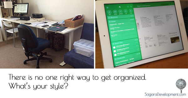 There is no one right way to get organized.