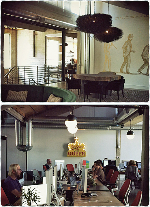 The creative space that is Monkey Inferno's office in San Francisco's SoMa district.