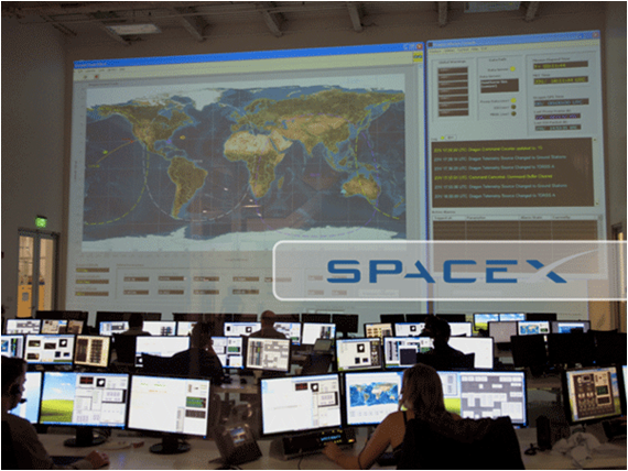 SpaceX uses LabVIEW systems to control launchpad equipment and to command and monitor the Falcon 1 and Falcon 9 launch vehicles and its Dragon  spacecraft.