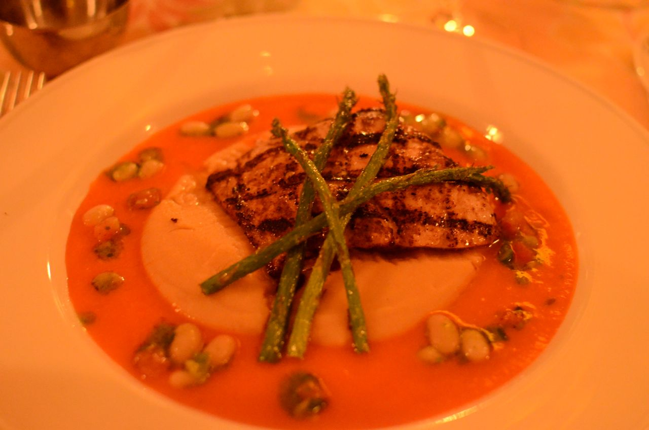 Special - Grilled Fish with White Bean Puree
