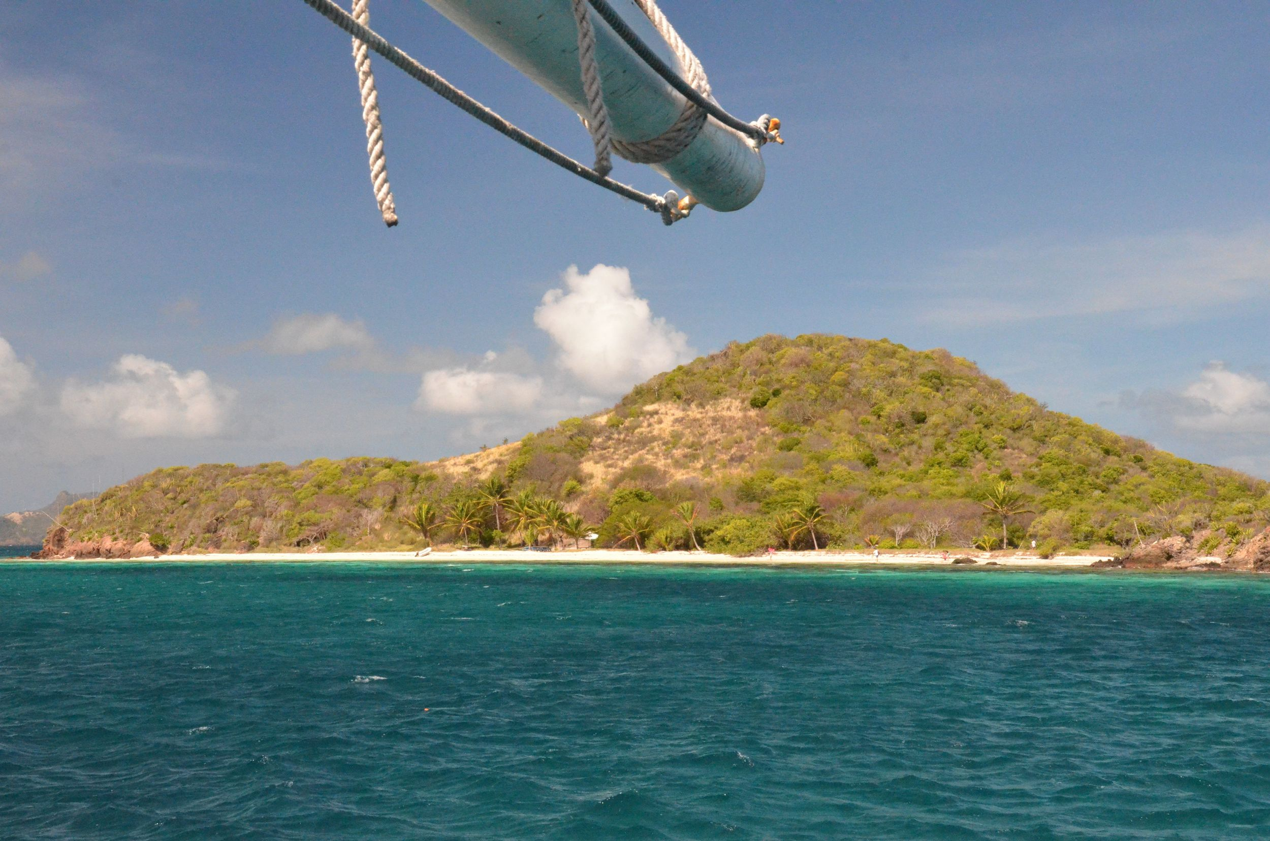 Approaching Tobago Cays