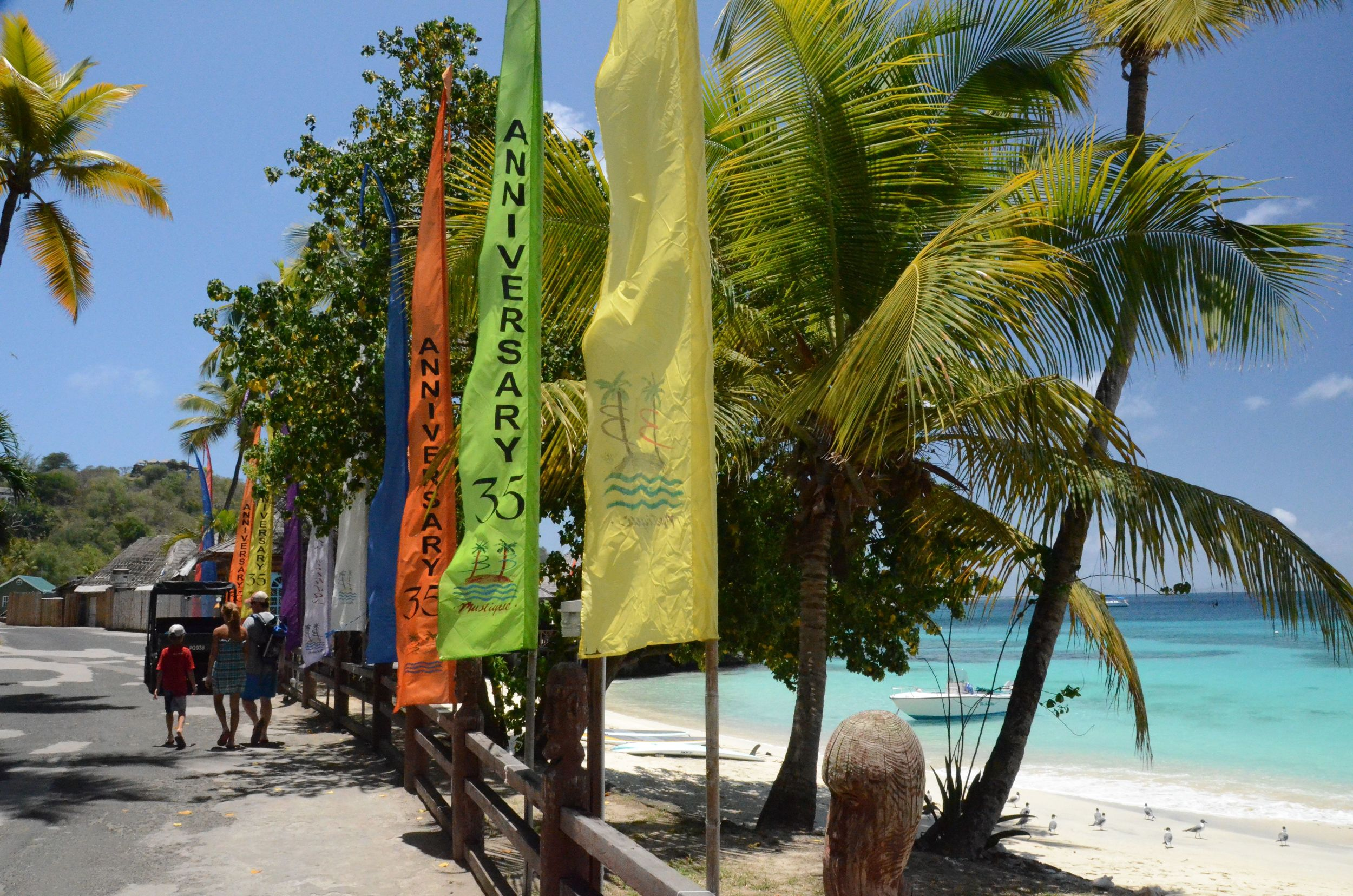 "Mustique's ""main drag"""