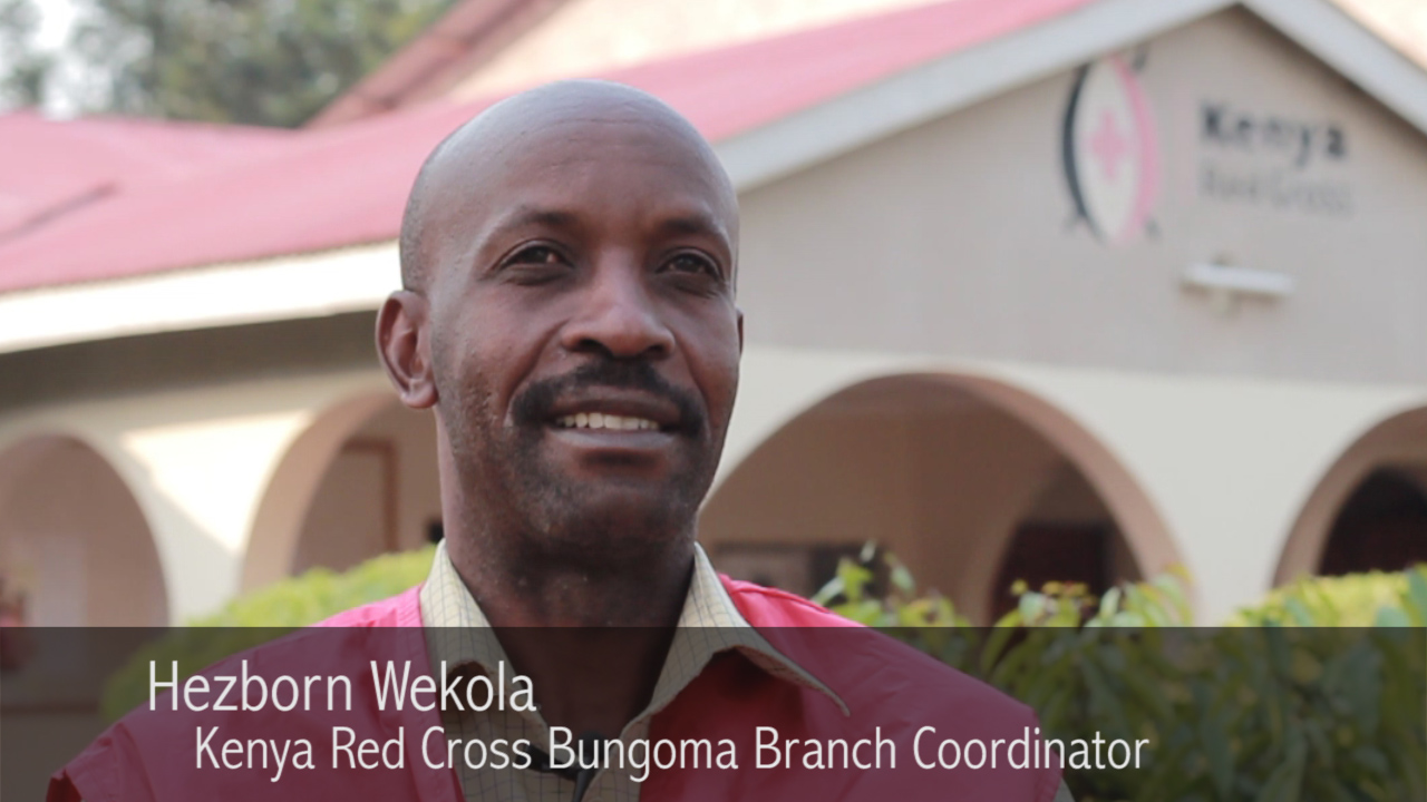 A screen shot from Waiting for Water. Mr. Wekola provided one of the key interviews for the film. He's been working on water security in Western Kenya for years now.