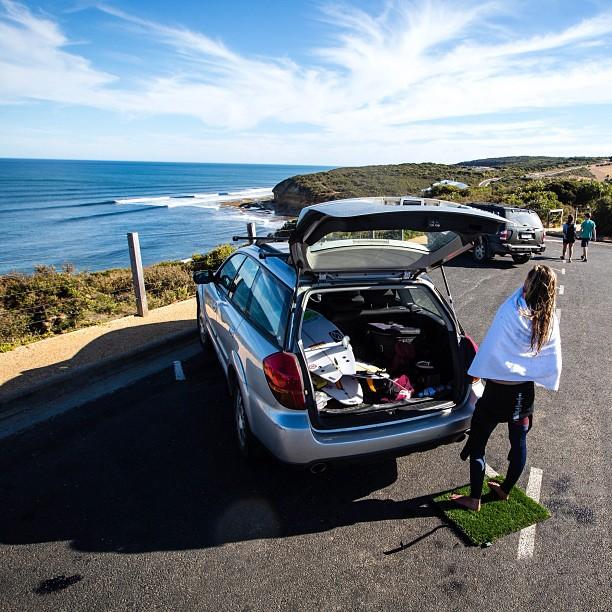 surf grass mat car outside.jpg