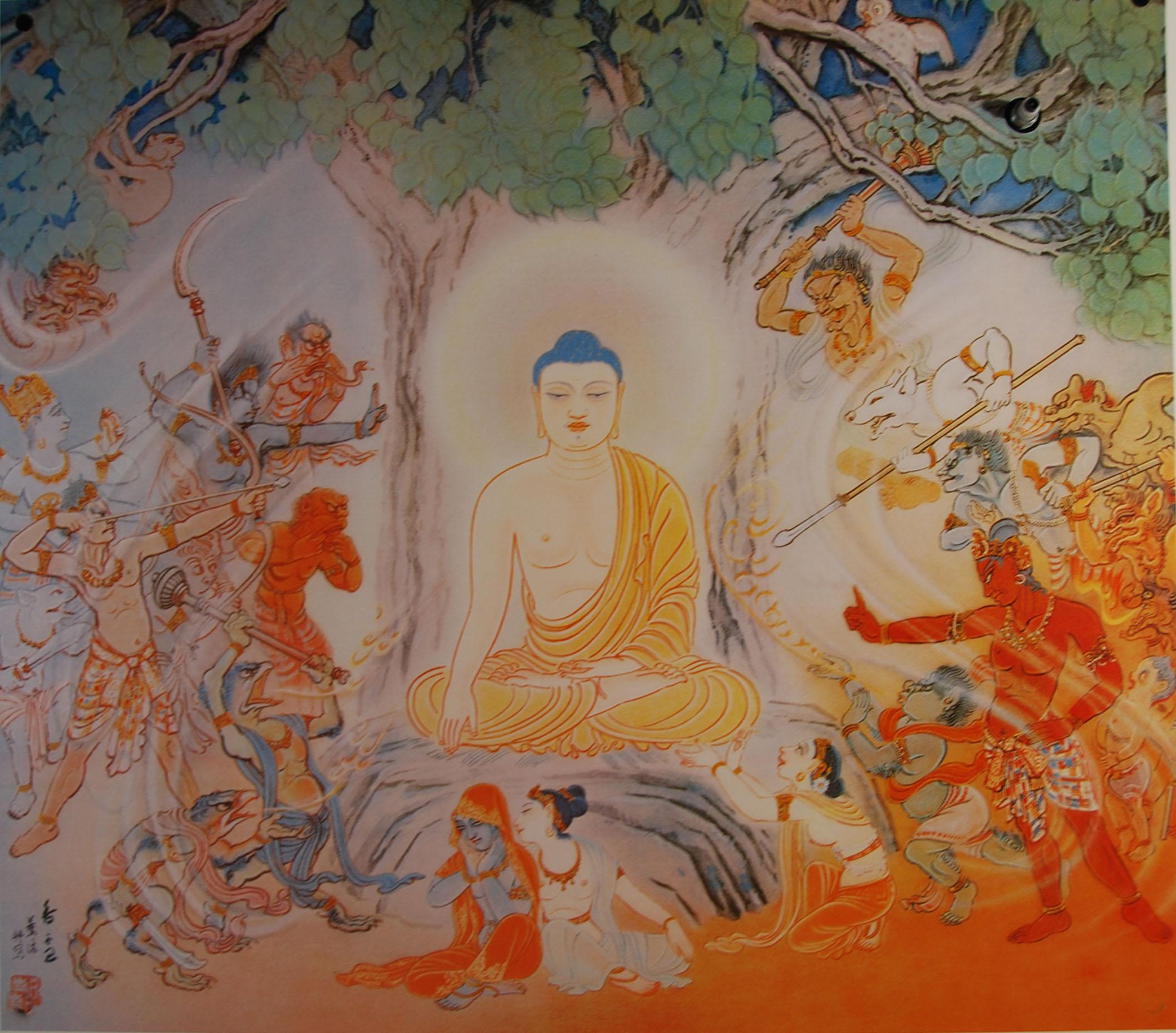 Mara's Attack on the Buddha