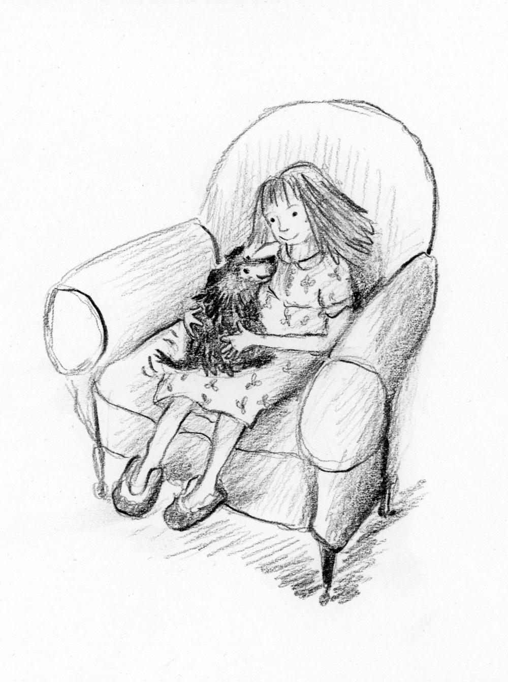 Illustration from Bigfoot Story