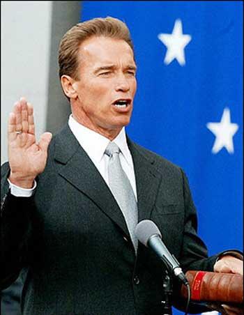 The Governator was sworn in