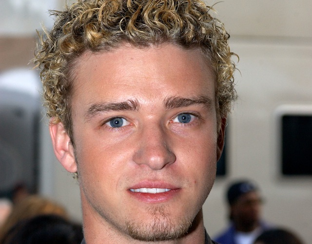 Justin Timberlake had frosted tips